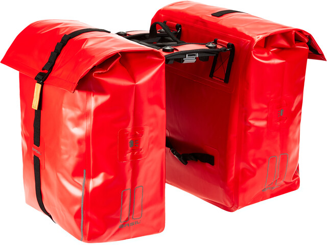 Basil Urban Dry Sacoche vélo double 50l, avec système MIK, signal red
